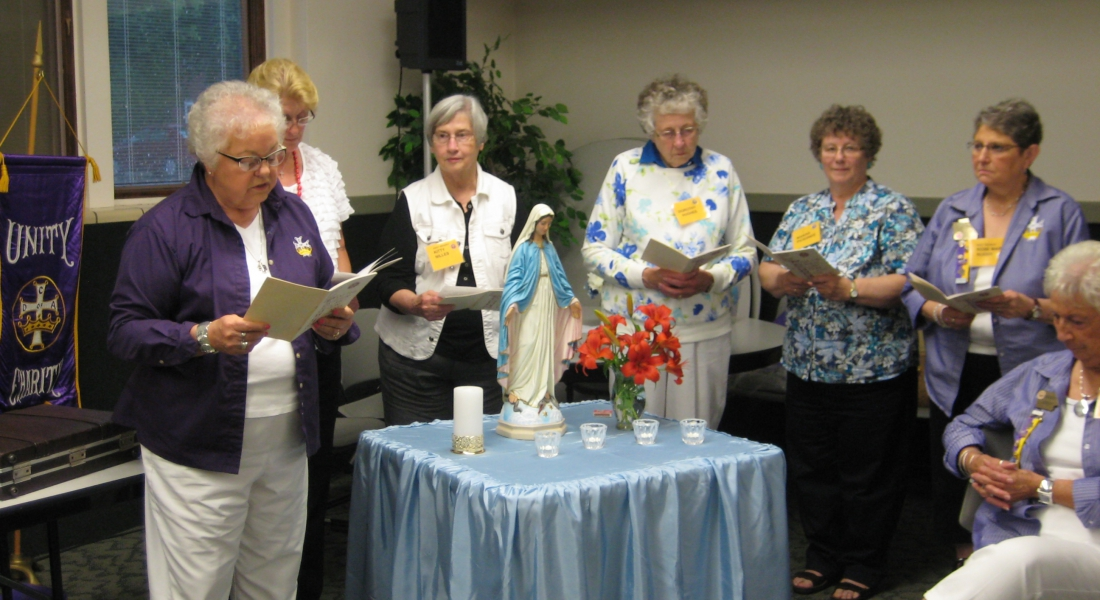 # 216 CDA Memorial Service for deceased members leading the prayers is Past State Officer Marilyn Savage